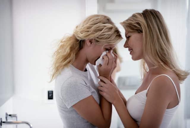 réconforter une amie